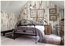 Gris Hot Sale Fashion Design Timber Plank Series Theme Mural Originality of Mosaic Wood Non-woven Wallpaper for Hotel Decoration