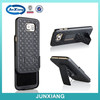 rubber surface hard case belt clip kickstand S6 case rugged