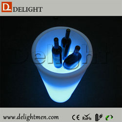 New products tall illuminated colorful remote control led patio ice cooler for coffee shop