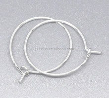 Silver Plated Wine Glass Charm Rings /Earring Hoops