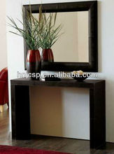 Faux leather wall mirror,square decorative wall mirror