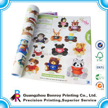 high quality laminated folding catalogue brochure sample for book