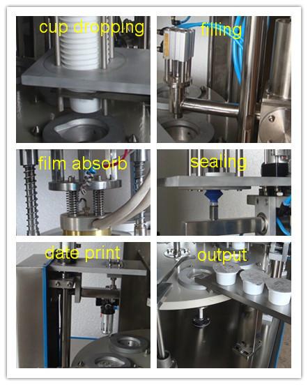 honey mustard ice cream cup filling machine, high speed rotary honey ...