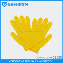 GuardRite brand 25cm yellow 10gauge cotton working gloves 707 made in china