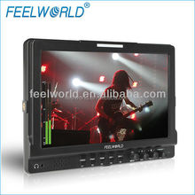 FEELWORLD 10 inch IPS 3G-SDI Input 1280* 800 Physical Resolution waveform camera monitor for broadcasting
