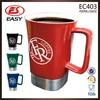 Wholesale promotional 16oz custom large white ceramic coffee mug with handle
