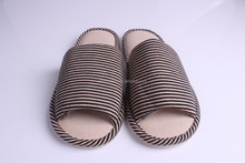 2015 new design indoor summer man cotton fabric slipper