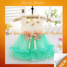 Korean baby bow knot dress girls casual frock designs SFUBD-722