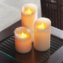 Wax LED Flameless Candle light with realistic Flame.