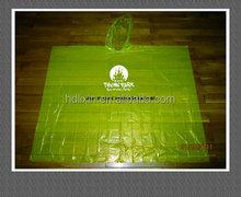 Customized disposable raingears waterproof PE plastic bicycle rain ponchos