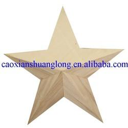decorative nude wooden craft stars