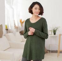 2014 New stylish western style fashion lady muslim long sleeve blouse