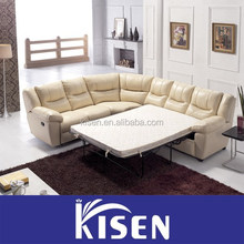 Living room furniture modern leather recliner round sofa bed