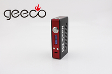Alibaba express Geeco new 200w bxo mod with big vaporizer TC function mod box watt e cigarette starter kit