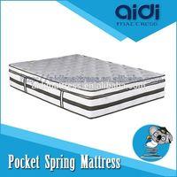 Modern Design King Size Box Spring Mattress, Luxury Motel Bedroom Furniture AG-1306