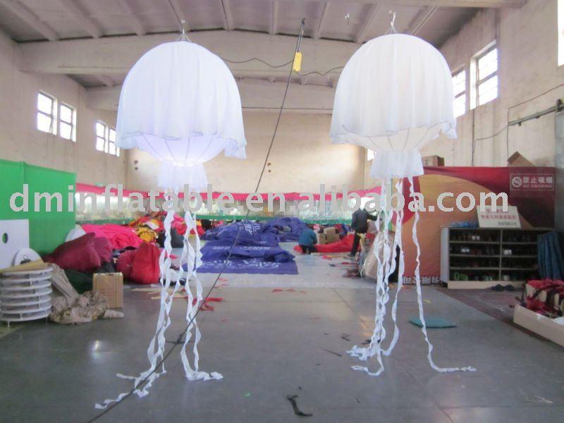 decoracao lampadas led : decoracao lampadas led:Decoração inflável jelly fish com lâmpadas LED