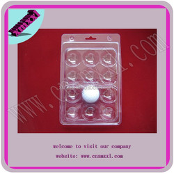 new style!! clear plastic golf packs for 12 balls