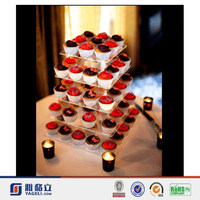 2015 hot selling customised new style acrylic tube cake stand