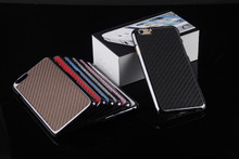 Luxury Mat Grain Carbon Fibre Electroplated hard case back cover for iPhone 6 iPhone6 Plus/Samsung Galaxy S5/Note 3/HTC One M8