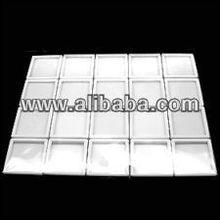 "20pcs Gemstone Display Box White Colour Top Quality Glass 1.2"" Durlble"