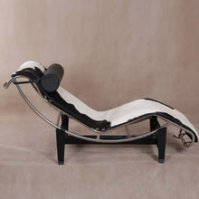 cow hided leather le corbusier lc4 chaise lounge
