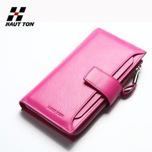 QB102 top 10 brands wallet card holder genuine leather women wallet