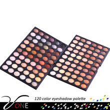120 cold color nude eyeshadow make-up 2 layer fashion eye shadow palette