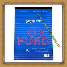 """"""" Oxford """" Top load / vertical A4 taille bleu couvre seule ligne blanche papier bloc - notes"""