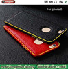 Factory wholesale Hippocampus buckle phone shell for apple 6 Metal frame + leather cover Mobile Phone Cases for iphone6
