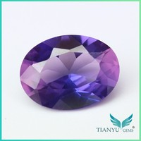 Free sample wholesale oval synthetic lavender spinel gemstone for Jewelry making