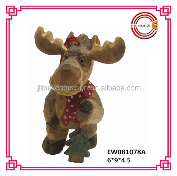 Wooden christmas moose ornaments buy