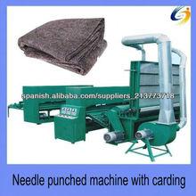 Aguja de lana perforado sentía que hace la máquina para la estera de fibra baja, pad
