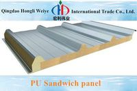 50mm pu sandwich panel price with color coated steel sheet on both side