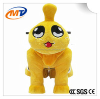 Fashion electric coin operated mini plush toy kids car rider walking animal rides in China pedal for mall