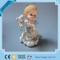 small hanging angel figurine resin christmas gift