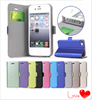 Flip PU Stand Leather card slot case cover for iPhone 4 iPhone 4s case