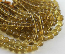 10 Inches - 8MM Superb Quality Natural VERY HUGE SIZE Top Quality Beer Quartz Faceted Round Cut Beads String