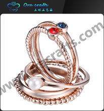 Fashion Jewelry crystal simple finger rings, diamond lady knuckle finger ring