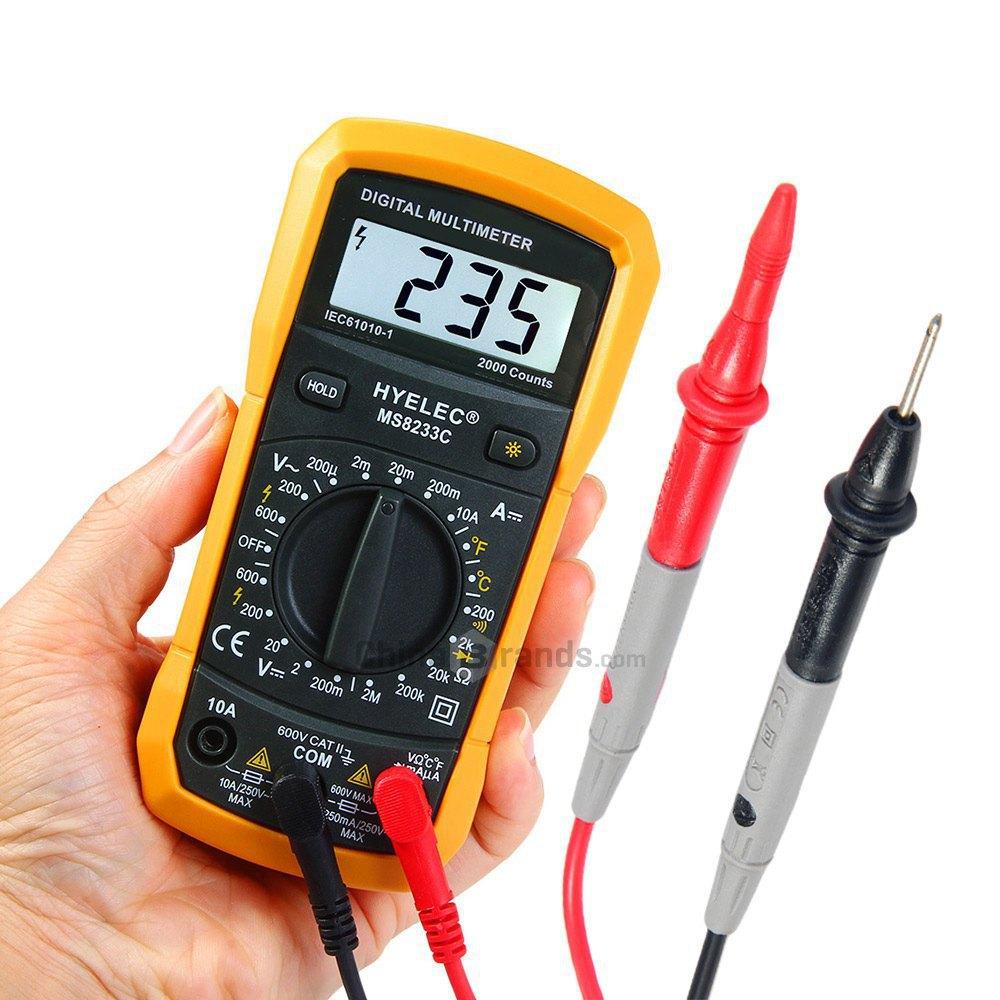 Product Digital Multimeter : Hyelec ms c digital multimeter voltage current