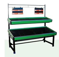 Supermarket heavy duty metal vegetable & fruit metal display shelves