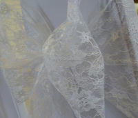White lace chair covers organza sashes