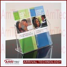 acrylic organizer 2 pocket 1 tier trifold flyer acrylic flyer holder