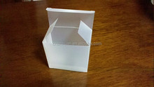 Die cut Hard Folding clear Plastic pp Retail box with lock