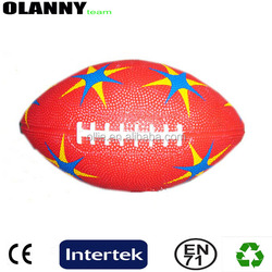 400g red different sizes silk screen printing outdoor sport rugby ball