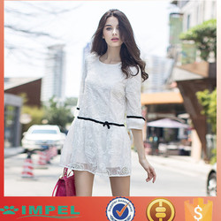 High quality woman casual patterns for lace dress designs