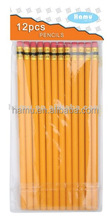 Pure colorful graphite wooden pencil with eraser