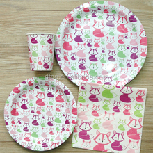 Animal wholesale lovely paper printed plate