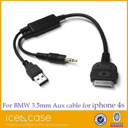 High Grade car 3.5mm audio cable for BMW and Benz,CD players