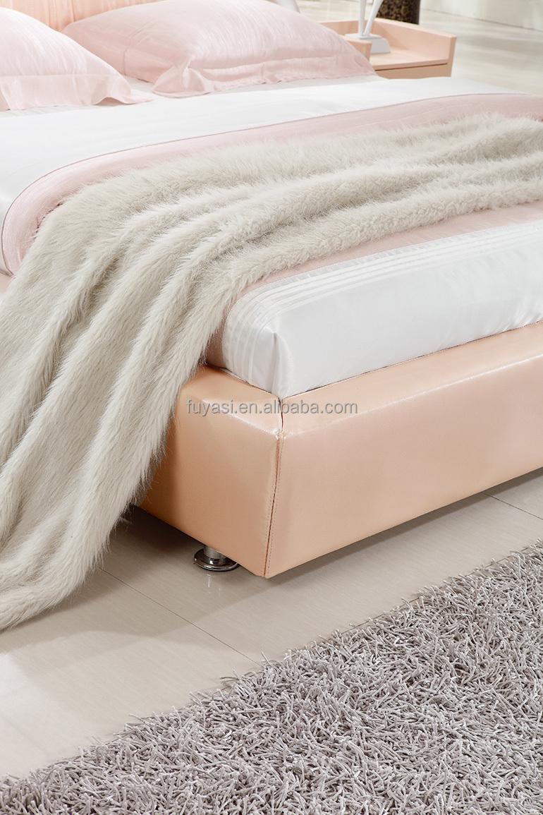 wit hout carrefour meubels volledig lederen bed faux lederen bed ...
