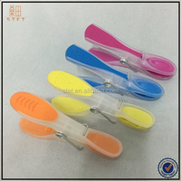 colorful soft grip plastic clip strip